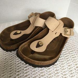 Betula Birkenstock Gizeh Thong Sandals Tan 9